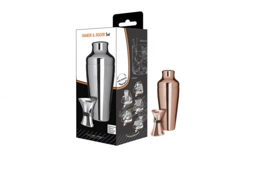 Copper Shaker Jigger Set