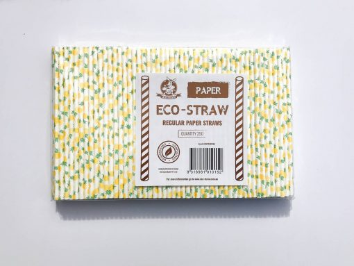 Yellow Paper Straws